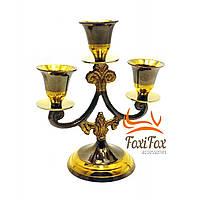 Подсвечник на 3 свечи декоративный бронзовый