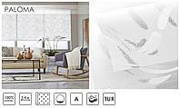 Рулонные шторы тканевые ролеты PALOMA белый