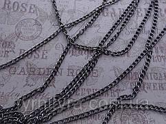 Цепь декоративная Италия К-4, чернен., 1,8мм(7мм х10мм)