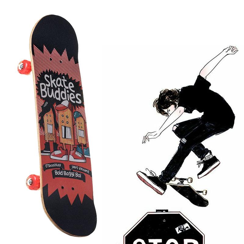 Скейтборд трюковый двусторонний Skate Buddies 3108YS-1 (Канадский клен)