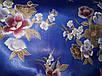 Атласный пеньюар Beisdana в цветы  2XL ярко  синий (34863)* Уценка, фото 2