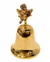 Колокольчик металлический  золотистый Ангел