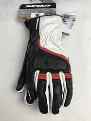 Женские мотоперчатки Spidi grip 2 бело черно красные женские итальянской маркиSPIDI  размер  L