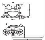 Змішувач для ванної кімнати вентильний 2-129, фото 2