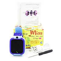 """Смарт-часы детские Smart Baby Watch Q12 Blue диагональ 1.44"""" сенсор с камерой GPS ответ на звонки 400 мАч, фото 6"""