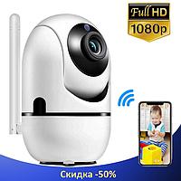IP камера видеонаблюдения WiFi CAMERA IP Y13G - беспроводная поворотная панорамная камера с распознаванием лиц, фото 1