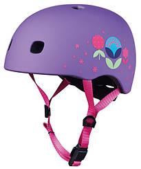 Шлем Micro Floral Purple LED