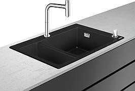 C51-F635-09 Мойка для кухни, со встроенным смесителем 180/450