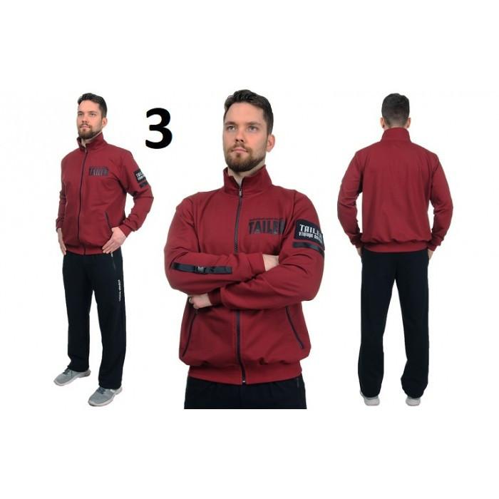 Мужской спортивный костюм TAILER черно-бордового цвета