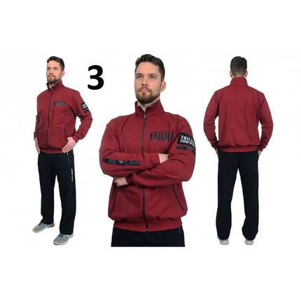 Мужской спортивный костюм TAILER черно-бордового цвета, фото 2