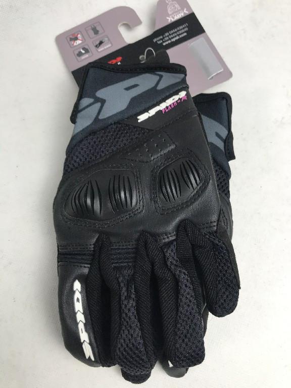 Кожаные мотоперчатки  Flash-R B86 Black B86 итальянской марки SPIDI  размер  M