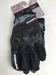 Кожаные мотоперчатки  Flash-R B86 Black B86 итальянской маркиSPIDI  размер  M