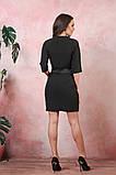 Платье на запах креп вставки атлас черный размер: 42-44, 46-48, 50-52, фото 4