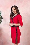 Платье на запах креп вставки атлас черный размер: 42-44, 46-48, 50-52, фото 5