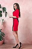 Платье на запах креп вставки атлас черный размер: 42-44, 46-48, 50-52, фото 8