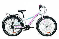 """Велосипед подростковый 24"""" Formula MASK 2020 (бело-голубой с малиновым)"""