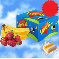 "Блок жвачек ""Love Is.."" Клубника-банан, фото 1"