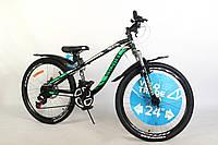 """Велосипед для подростка 24"""" Discovery Flint AM DD 2020 стальная рама 13"""" дисковые тормоза"""