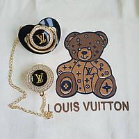 Пустышка, соска со стразами Louis Vuitton и держатель, комплект, фото 1