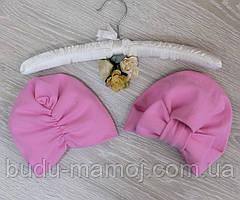 Детская нарядная шапочка для девочек чалма Рекомендуем на 1 - 2 года размер 46-48 розовая