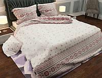 """Комплект постельного белья """"Вышиванка красная"""", бязь (Двуспальный на резинке)"""