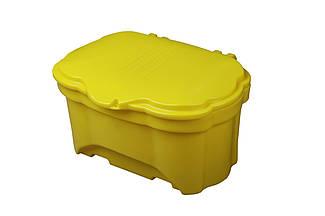 Контейнер для песка и соли 400л, 1260х950х792мм, желтый