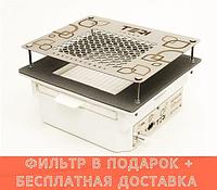 Teri Turbo встраиваемая в стол маникюрная вытяжка с HEPA фильтром (нержавеющая сетка с узором)