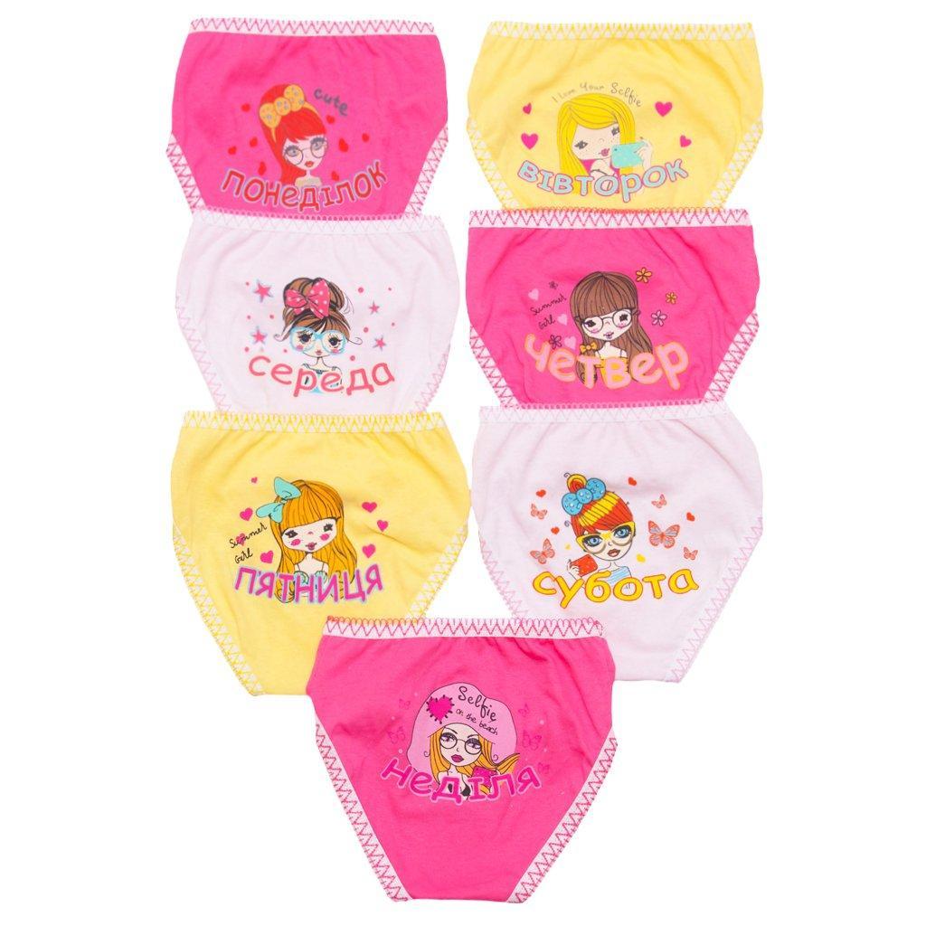 Набор цветных трусиков для девочки Неделька опт