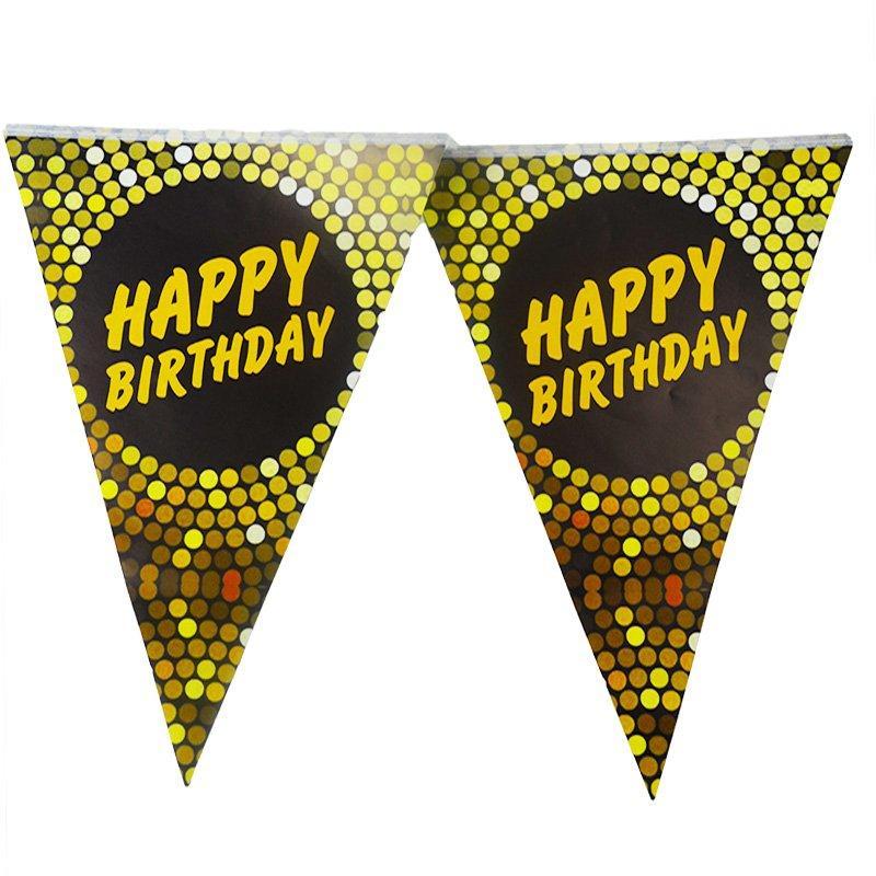 Гірлянда прапорці чорні трикутники на день народження 1709