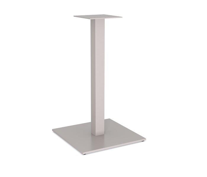 """Белая опора для стола из металла для столика в ресторан """"UNO"""" ножки с металлической пластиной"""