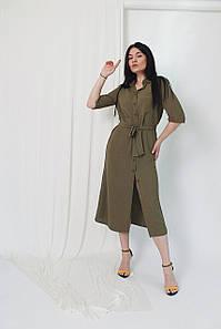 Плаття халат з поясом