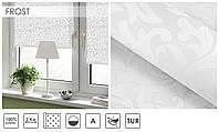 Рулонные шторы тканевые ролеты FROST белый