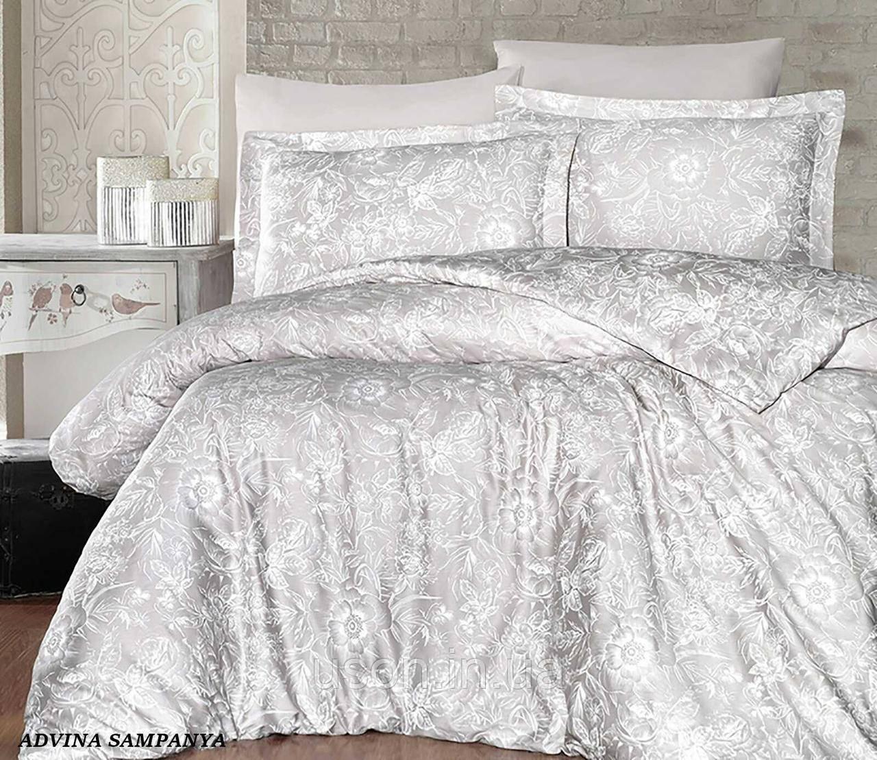 Комплект постельного белья Тм First Choice сатин Advina Sampanya