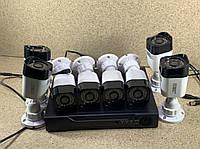 Комплект камер наблюдения регистратор + 8 проводных камер CCTV DVR KIT CAD 2mp\8ch