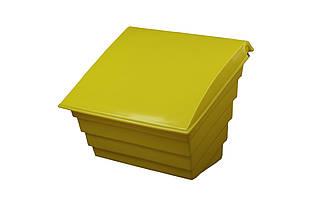 Контейнер для песка и соли 250л / 360кг, 976х756х795мм, желтый