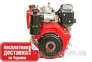Двигатель дизельный WEIMA WM186FBE (вал шлицы, 418cc, дизель, 9,5 л.с., эл.старт)