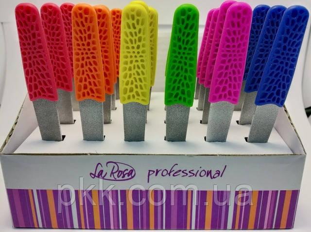 Пилочка для ногтей La Rosa металлическая с напылением 10,5 см NF1041