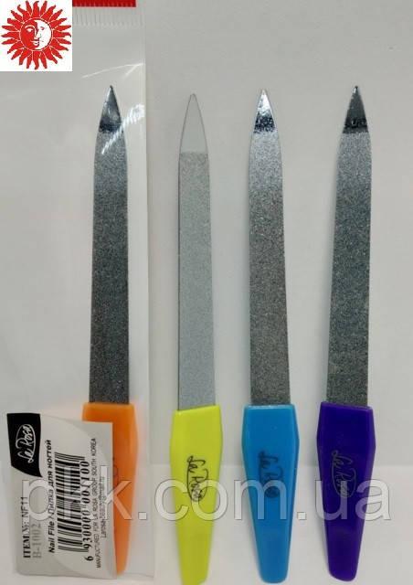 Пилка маникюрная для ногтей La Rosa металлическая сапфировая цветная 12,5 см NF11
