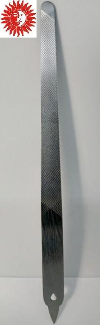 Пилка маникюрная для ногтей La Rosa металлическая с насечкой 15,5 см NF1032