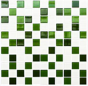 Мозаика GM 4030 C3 Green d-Green m-White 300×300 мм, Котто Кераміка, фото 2