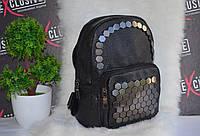 Черный рюкзак с заклепками, фото 1
