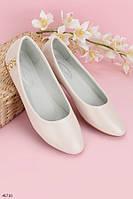 Женские балетки светло- розовые эко- кожа, фото 1