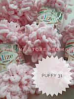 Турецкая фантазийная пряжа Puffy Alize детский розовый 31