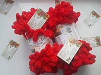 Турецкая фантазийная пряжа Puffy Alize красного цвета 56