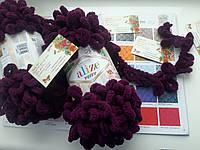 Турецкая фантазийная пряжа Puffy Alize Сливового цвета 111