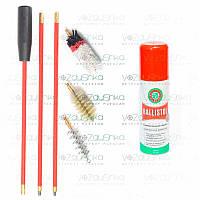 Набор для чистки ружья 12 калибра (3 ерша) + Ballistol 50 ml spray