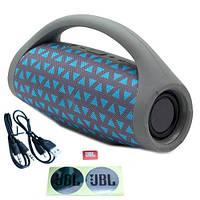 Колонка портативная Bluetooth JC-222, USB MicroSD, реплика JBL Boombox