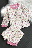 Пижама детская розовая ABC 738