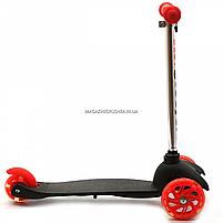 Самокат трёхколёсный Best Scooter детский черный 466-112, фото 2