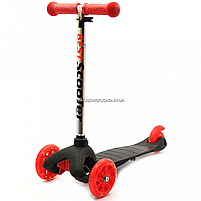 Самокат трёхколёсный Best Scooter детский черный 466-112, фото 3